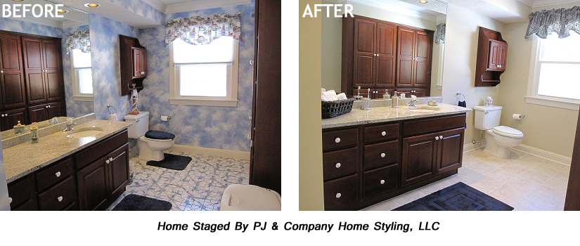 Wallpaper Before After Bathroom copy