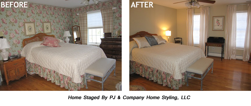 Wallpaper Before After Master Bedroom