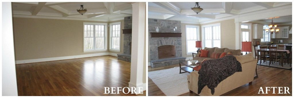 Avon Family Room Before After RS