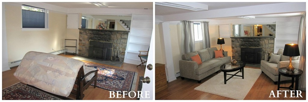 Danbury Living Room Before and After RS