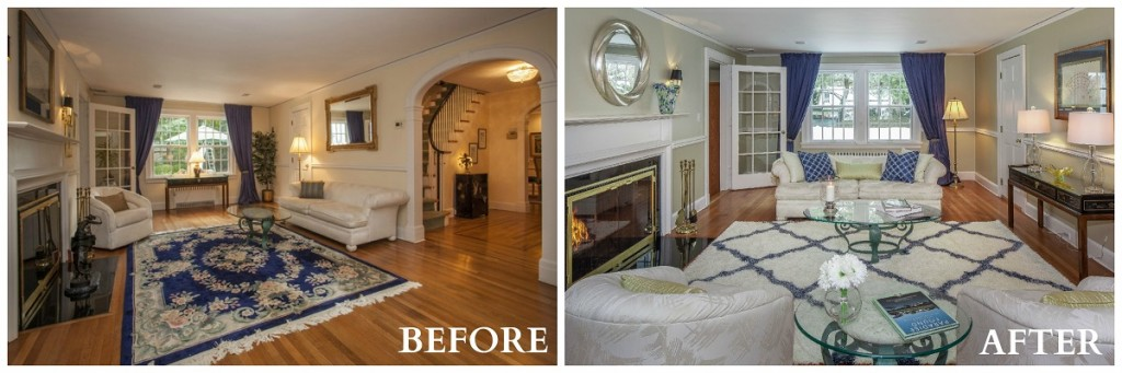 Irvington Living Room Before and After RS
