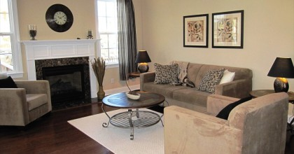 Danbury Model Home Family Room