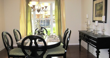 New York Model Home Dining Room
