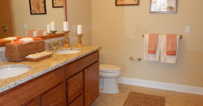 Newtown Woods, CT Model Home Master Bathroom