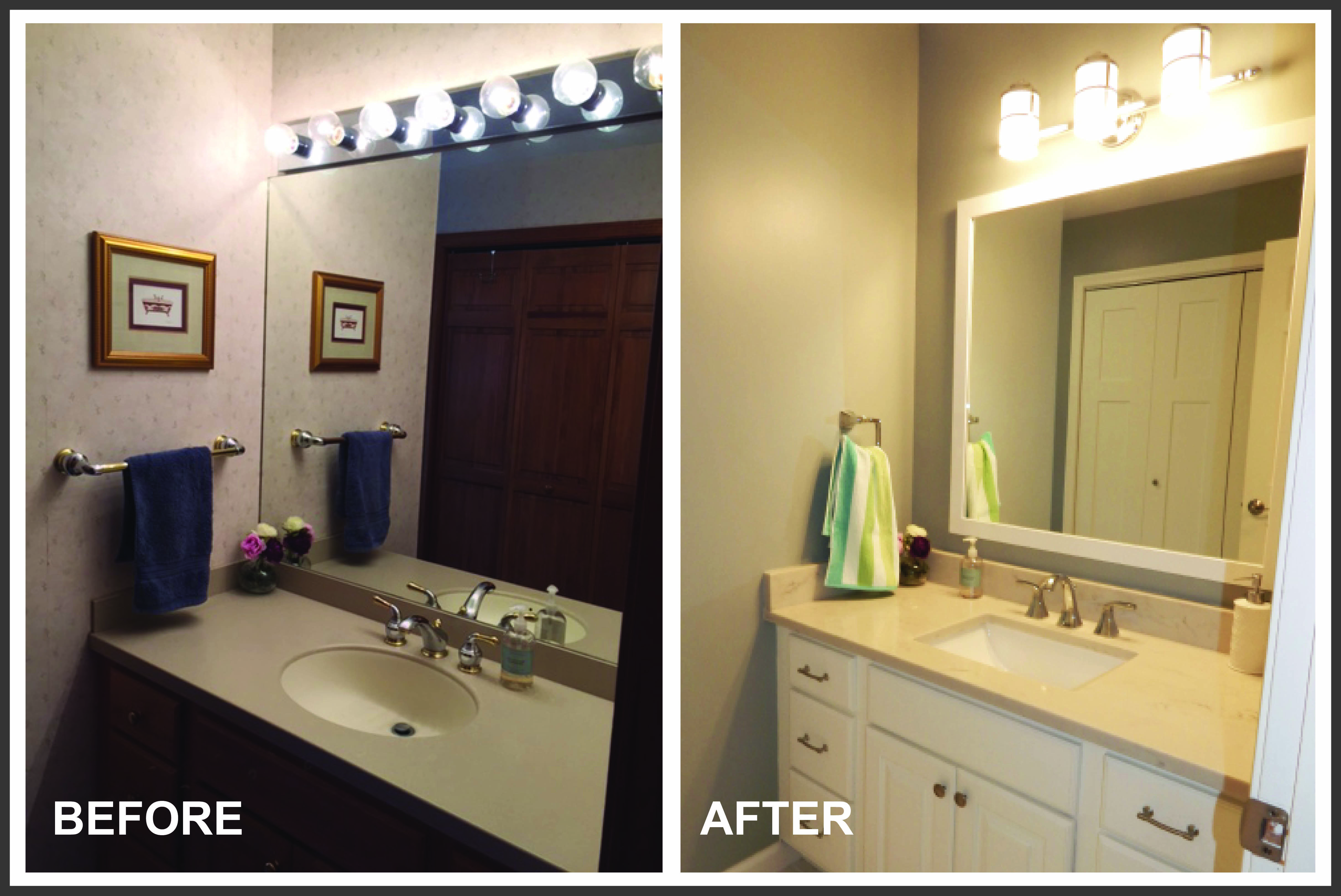 Cordani Hall Bath Vanity & Light B&A