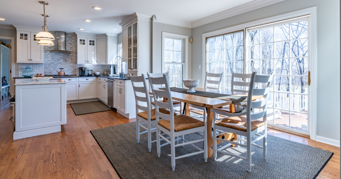 Dining Table in Farmhouse Kitchen
